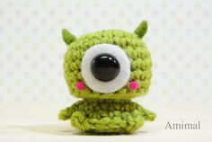 Amigurumi Plush  Monster Green by Amimal on Etsy