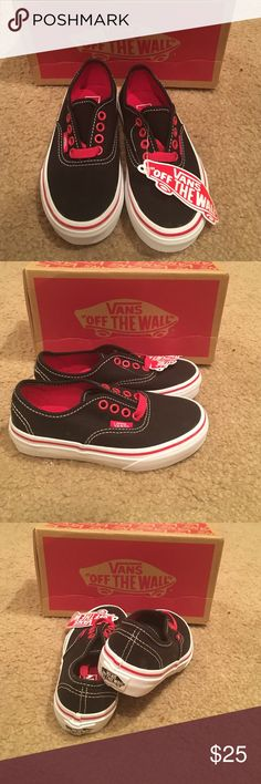 72d0aee178 Authentic black red white Vans