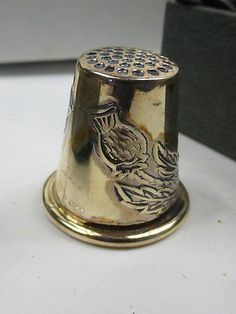 Sterling Silver Scottish Thistle Thimble