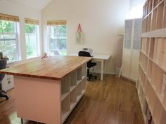 IKEA expedit plus wooden counter top for work station