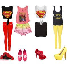 """""""Super Heroes"""" I am in love with the Batman one. I feel like I need this outfit"""