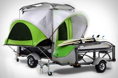 is this a motorcycle trailer? kayak and mountain bike trailer? a pickup truck? a tent camper? a cooler? yes. The SylvanSport Go Camper Trailer does all of these things