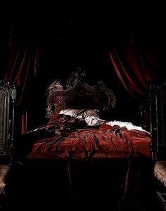 #bedroom #bed #vamps #red
