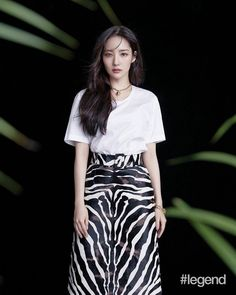 Park Min Young, China Girl, Korean Actresses, Girl Photography, Parks, Alexander Mcqueen, High Waisted Skirt, Queens, Saint Laurent