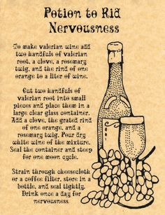 Potion to Rid Nervousness, Book of Shadows Pages, BOS Pages, Real Witchcraft picclick.com