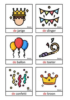 Dutch Language, Home Schooling, Happy Birthday, Future, Books, Cards, Carnival, Languages, Birthdays