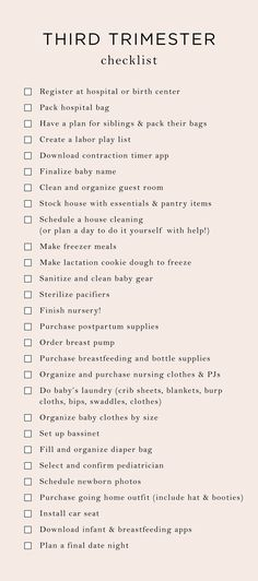 Things to Think About During the First Trimester of Your Pregnancy Getting Ready For Baby, Preparing For Baby, Waiting For Baby, Mama Notes, Babe, My Bebe, Baby Checklist, Hospital Bag Checklist, Packing Hospital Bag