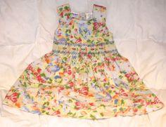 NWOT NEW MACY'S Blueberi Boulevard Girl 6 Spring ANY DAY SMOCKED Dress: LOOK