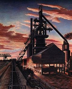 Jackson Lee Nesbitt (1913-2008) - Sheffield Blast Furnace