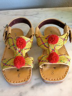 Vintage toddler sandals via Etsy