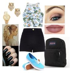 """""""Untitled #236"""" by rhay-q ❤ liked on Polyvore featuring JanSport, Vans, Kate Spade, Michael Kors, Chicnova Fashion and River Island"""