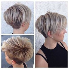 Undercut, two tone pixie Quick Hairstyles For School, Bob Hairstyles For Fine Hair, Mom Hairstyles, Undercut Hairstyles, Pretty Hairstyles, Undercut Pixie, Edgy Short Hair, Edgy Hair, Short Hair Cuts For Women