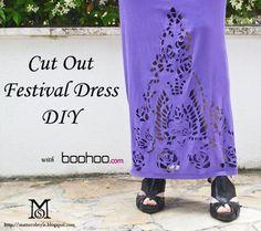 DIY Clothes DIY Refashion Women fashion: DIY Fashion: Cut Out Festival dress