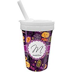 Halloween Sippy Cup with Straw (Personalized)