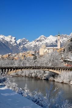 Belluno sotto la neve by Alessio x79x, via Flickr ~ Veneto