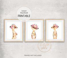 Meerkat Flower Crown PRINTABLE Print Set Girls Nursery Wall image 0 Floral Nursery, Floral Wall Art, Nursery Prints, Nursery Wall Art, Girl Nursery, Wall Art Prints, Nursery Ideas, Nursery Decor, Bedroom Decor