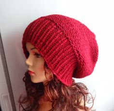 Sacking Winter Hat  Autumn Accessories  Slouchy Beanie by Ifonka