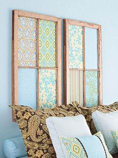 Tête de lit tissu vieille fenêtre