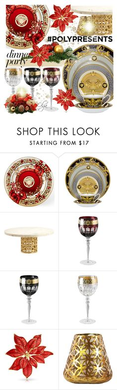 """#PolyPresents: Dinner Party with Versage Dinnerware"" by olga1402 on Polyvore featuring interior, interiors, interior design, home, home decor, interior decorating, Versace, GALA, Jonathan Adler and Bling Jewelry"