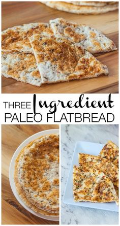 3 Ingredient Paleo Flatbread- egg whites, (can use whole eggs), baking powder and coconut flour, herbs and salt