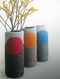 felted.. vase cozie