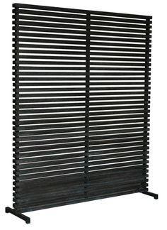 Moes Home Collection CV-1012 60 Inch Wide Hardwood Single Panel Screen Black Home Decor Room Dividers Panel