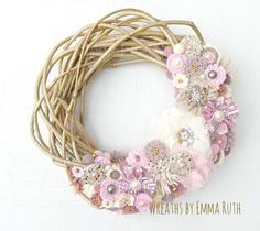 FREE SHIPPING Made to Order Gold Sparkle Twig by WreathsByEmmaRuth