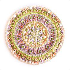 Finished  (Pattern: dandelion mandala by @lillabjorncrochet  Yarn: Sirdar cotton dk)