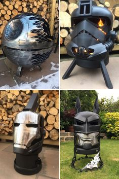 We have selected for you the best Star Wars, Comics ant Earth fire pit ideas made thanks to the creativity of crafters, be inspired and make your own! Metal Fire Pit, Cool Fire Pits, Welding Art Projects, Metal Art Projects, Blacksmith Projects, Diy Projects, Fire Pit Sets, Metal Welding, Diy Welding
