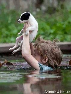 This little boy has rescued his dog in Sarajevo, Bosnia and Herzegovina bless him ❤️