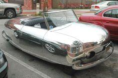 "1946 Hewson Rocket From Motor Trend Magazine, ""Wi… Weird Cars, Cool Cars, Crazy Cars, Hymer, Automobile, Silver Car, Microcar, American Graffiti, Engin"