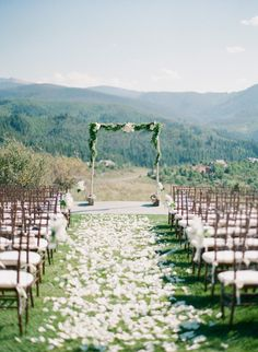 a green Colorado view  Photography By / sarahasstedt.com, Wedding Planning By / frostedpinkweddings.com, Floral Design By / lauryllane.com