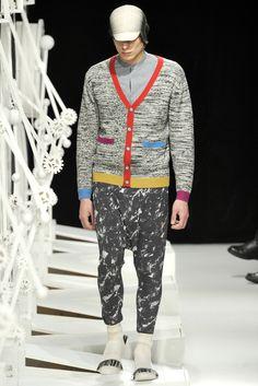 Henrik Vibskov Fall 2012 - Colourful cardigan