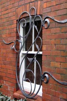 contemporary forged steel security grills
