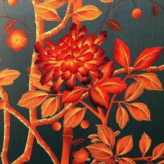 This beautiful hand painted and woven silk wallpaper by @fromentaluk fits in wonderfully with our #terracotta week. We had a super inspiring time looking around their showroom