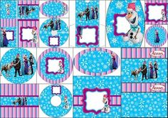 Frozen in Christmas: Free Printable Candy Bar Labels.
