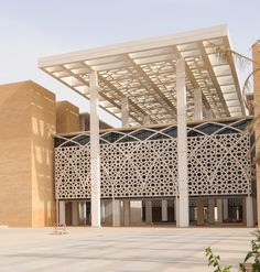 Image 4 of 27 from gallery of Princess Nora Bint Abdulrahman University / Perkins+Will. Photograph by Bill Lyons Mosque Architecture, Religious Architecture, School Architecture, Architecture Design, Facade Design, House Design, Arabic Design, Modern Buildings, Contemporary Architecture