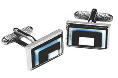 Mother of pearl cufflinks, in the style of the 1920's.