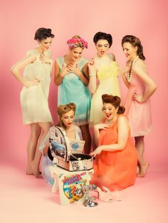Vintage Style Hen Party Ideas - Vintage Styling   onefabday.com