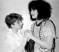 Siouxsie Sioux of Siouxsie & the Banshees with Clare Grogan of Altered Images.