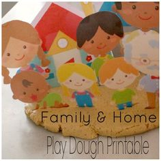 Family and Home Paper Dolls: Free Play Dough Printable Preschool Family Theme, Preschool Themes, Family Crafts, Kindergarten Activities, Pre Kindergarten, Playdough Activities, Activities For Kids, Clay Activity, All About Me Activities