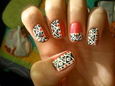 ▪☉⊙✪ Tribal nails by Danie - Nail Art Gallery nailartgallery.na... by Nails Magazine www.nailsmag.com #nailart
