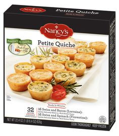 Not only are the cups buttery and generously filled, but you get two classic flavors, Lorraine and Florentine, in one box. Nancy's Petite Quiche, $7.99 for 32; Nancys.com.  - WomansDay.com