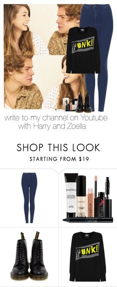 """""""#302"""" by bruna-malik3 ❤ liked on Polyvore featuring Topshop, Smashbox, Dr. Martens, Markus Lupfer, ASOS, harrystyles and Zoella"""
