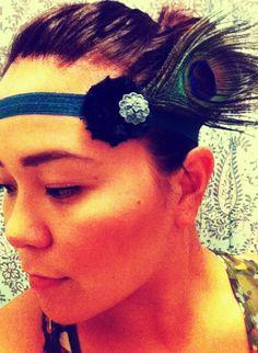 Cute 20's style Peacock headband