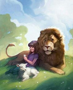 This is an Illustration that I did for the cover of the Friend Magazine. I went through tons of revisions creating it, sometimes scrapping h. Braut Christi, Jehovah Paradise, Illustration Art Dessin, Lion And Lamb, Prophetic Art, Jesus Art, Jesus Christ, Biblical Art, Lion Art