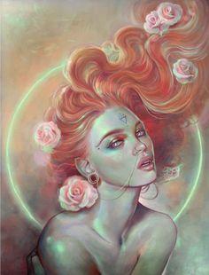 Twisted Dark Art Gallery — to-mega-therion: ikeiks: The art of Marta. Art Inspo, Kunst Inspo, Painting Inspiration, Art And Illustration, Fantasy Kunst, Fantasy Art, Art Sketches, Art Drawings, Art Noir