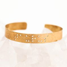 Leigh Luna Taurus Braille Bracelet now featured on Fab.