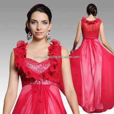 Red Wedding Gown - Silk Georgette Pleated $232.89 (was $273.99) Click here to see more details http://shoppingononline.com/wedding-gowns/red-wedding-gown-silk-georgette-pleated.html #RedWeddingGown #SilkWeddingGown #SilkDress #RedDress