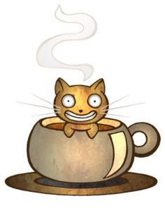 DeviantArt is the world's largest online social community for artists and art enthusiasts, allowing people to connect through the creation and sharing of art. Coffee Mug Quotes, Funny Coffee Mugs, Coffee Cat, Coffee Break, Gorilla Ink, Cat Room, Coffee Staining, Crazy Cats, Cat Art